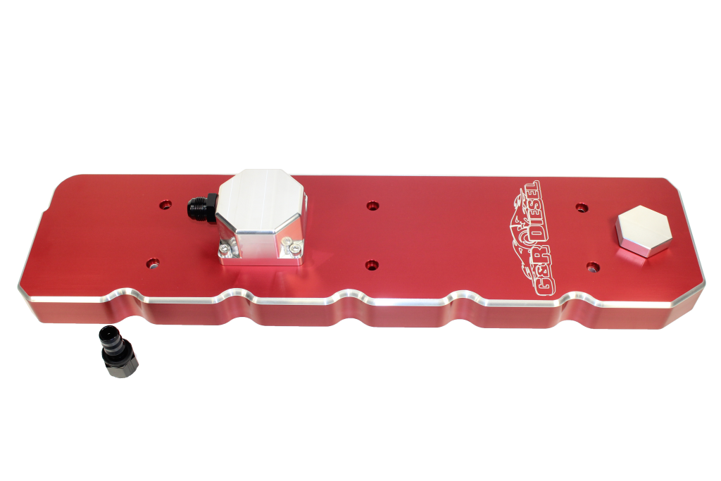 5.9 Red Cummins Valve Cover