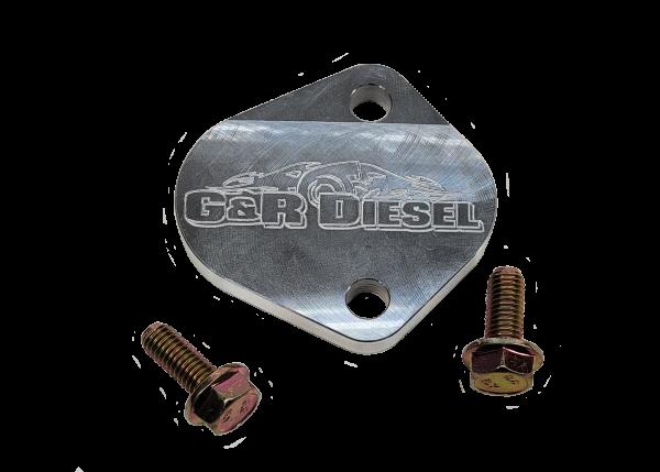 Cummins Fuel Pump & CCV Drain Block Plate